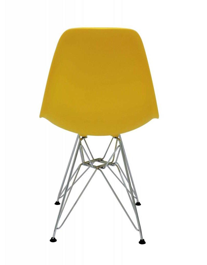 DSR Eames Design Eetkamerstoel Geel