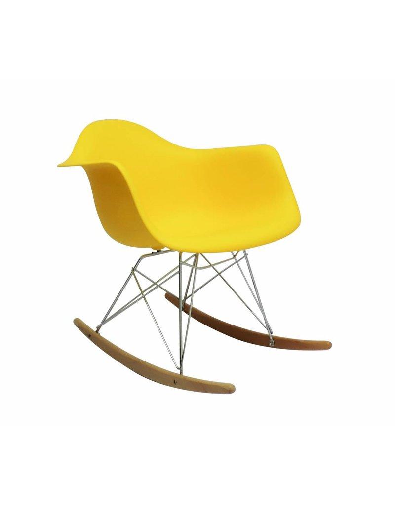 RAR Eames Design Schommelstoel Geel