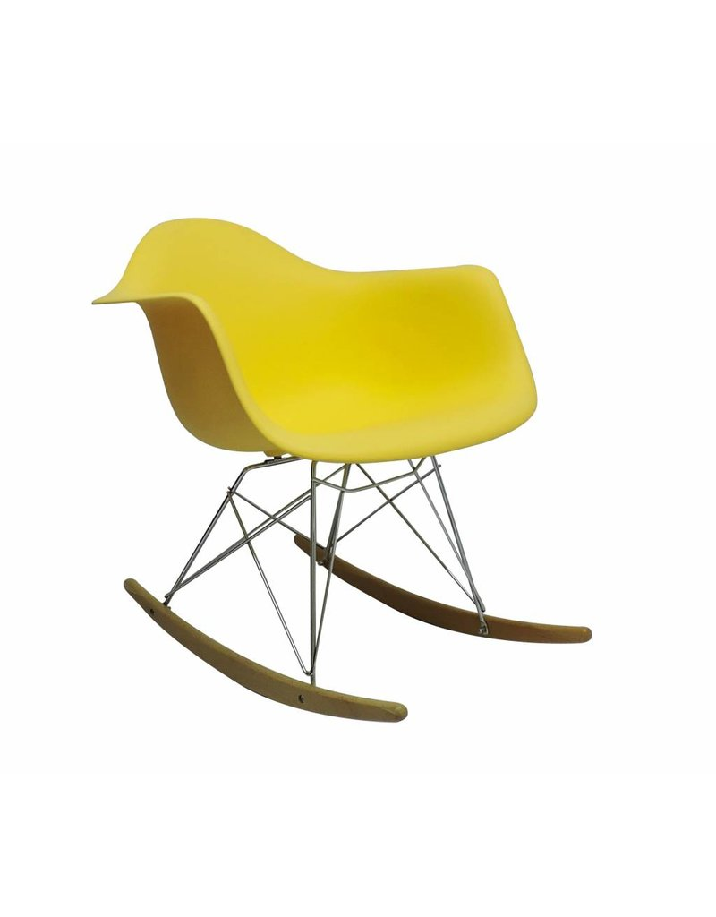 RAR Eames Design Rocking Chair Yellow