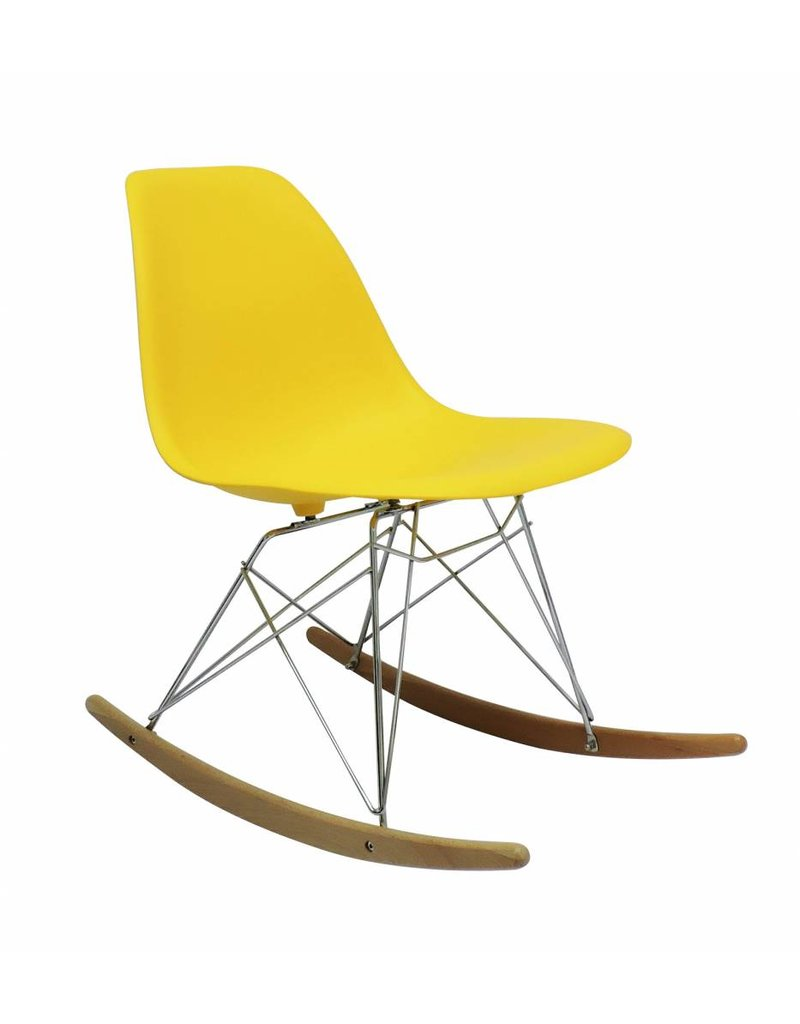 Awesome Rsr Eames Design Rocking Chair Yellow Machost Co Dining Chair Design Ideas Machostcouk