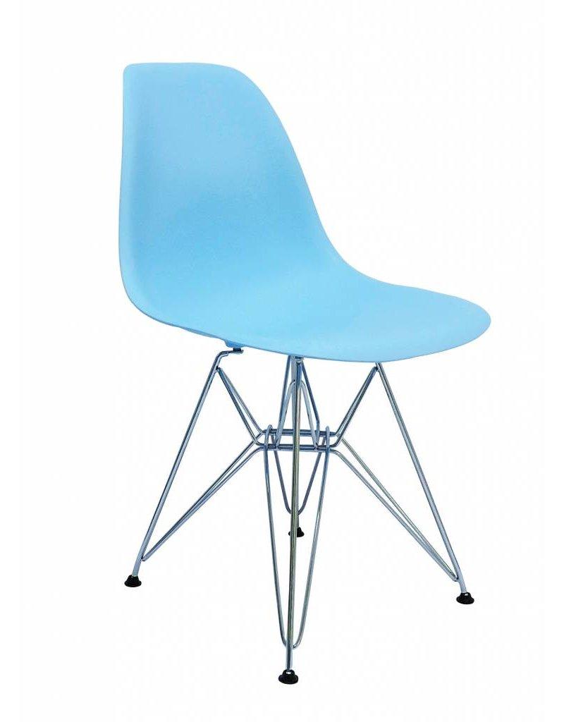Blauwe Design Stoelen.Dsr Eames Design Eetkamerstoel Blauw