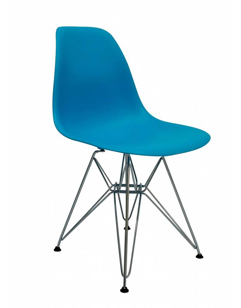 Terrific Dsr Eames Design Dining Chair Blue Gmtry Best Dining Table And Chair Ideas Images Gmtryco
