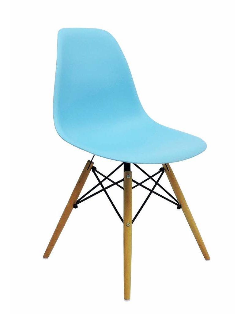 DSW Eames Design Eetkamerstoel Blauw