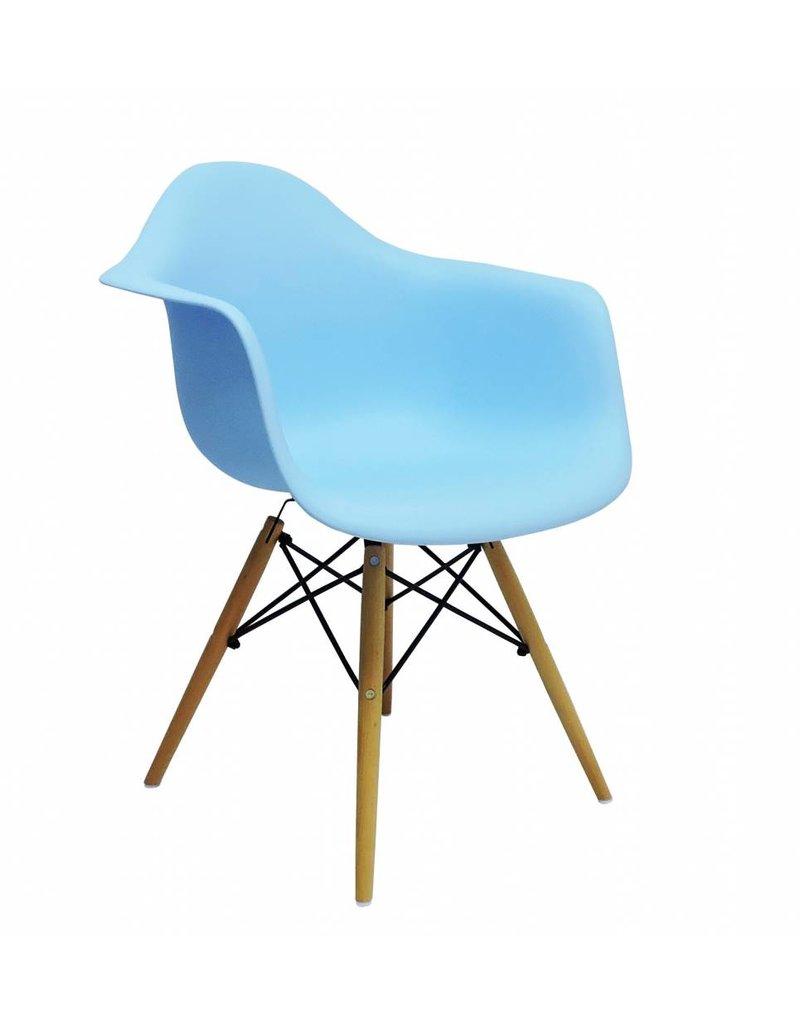 Blauwe Design Stoelen.Daw Eames Design Stoel Blauw