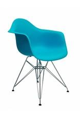 DAR Eames Design Stoel Blauw