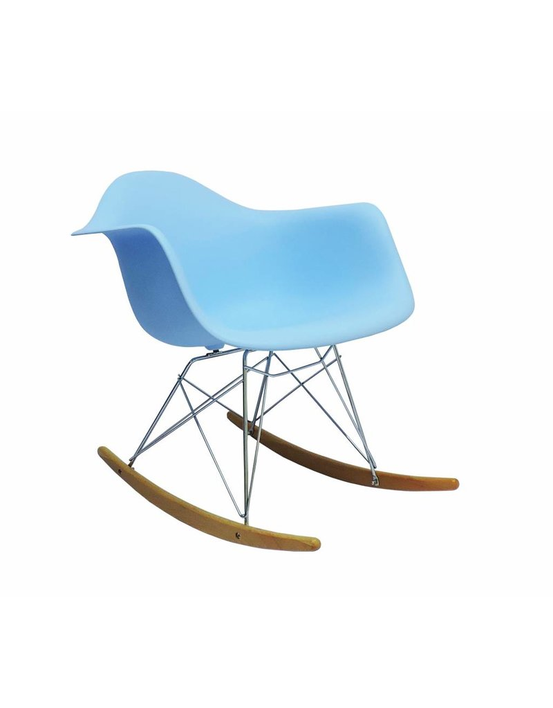 Brilliant Rar Eames Design Rocking Chair Blue Inzonedesignstudio Interior Chair Design Inzonedesignstudiocom