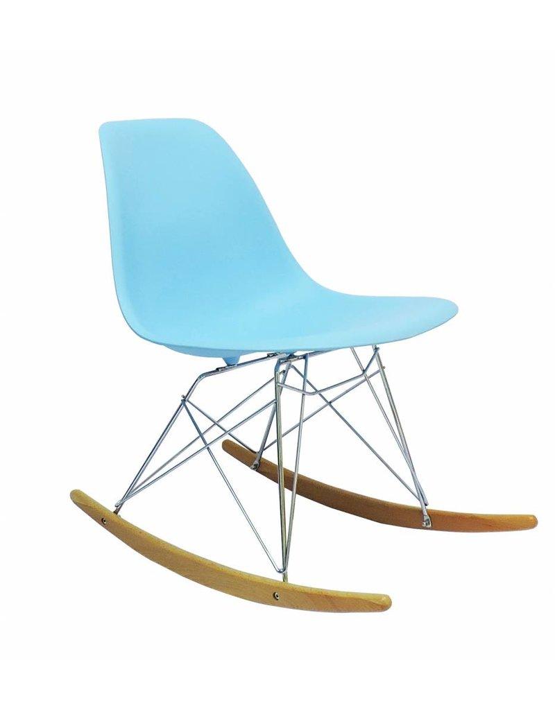 Blauwe Design Stoelen.Rsr Eames Design Schommelstoel Blauw