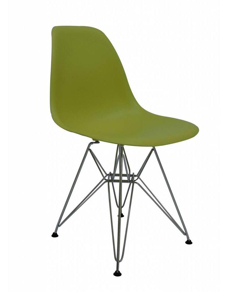 DSR Eames Design Eetkamerstoel Groen