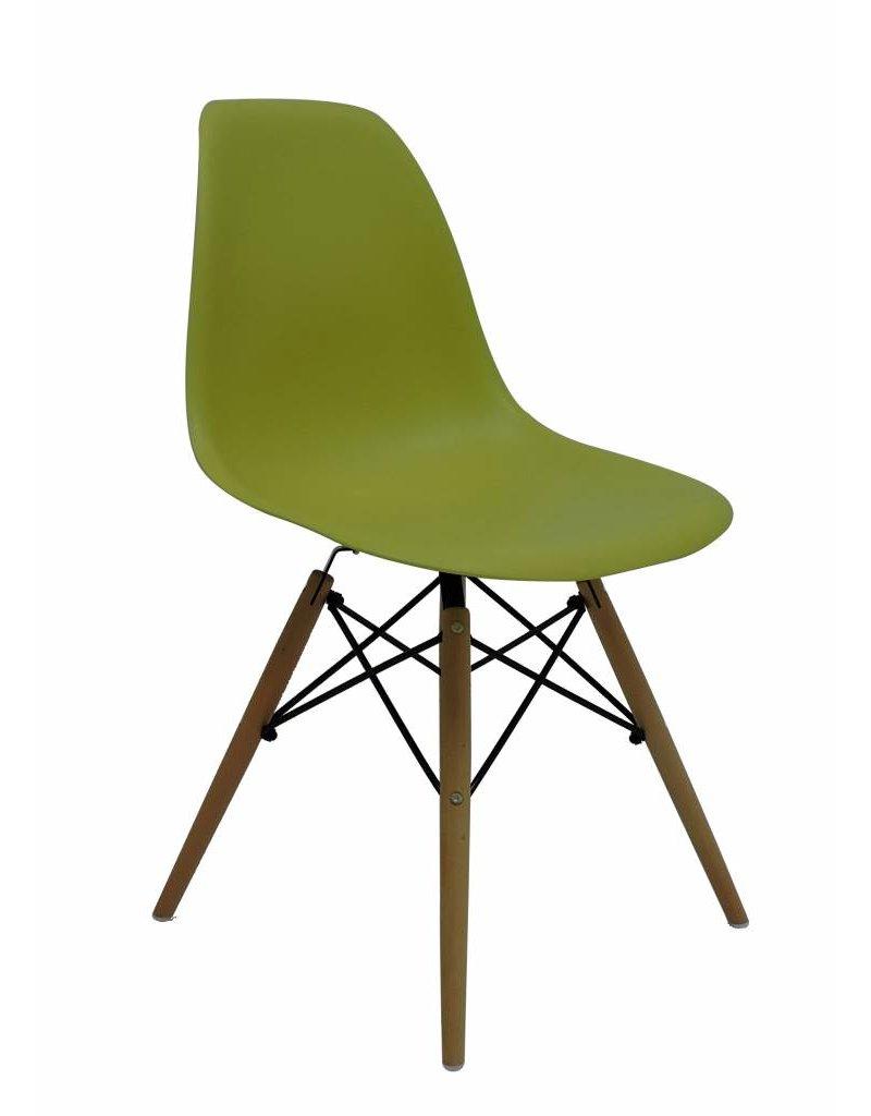Te Koop Design Eetkamerstoelen.Dsw Eames Design Eetkamerstoel Groen