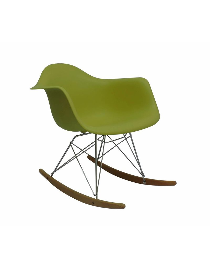 RAR Eames Design Rocking Chair Green