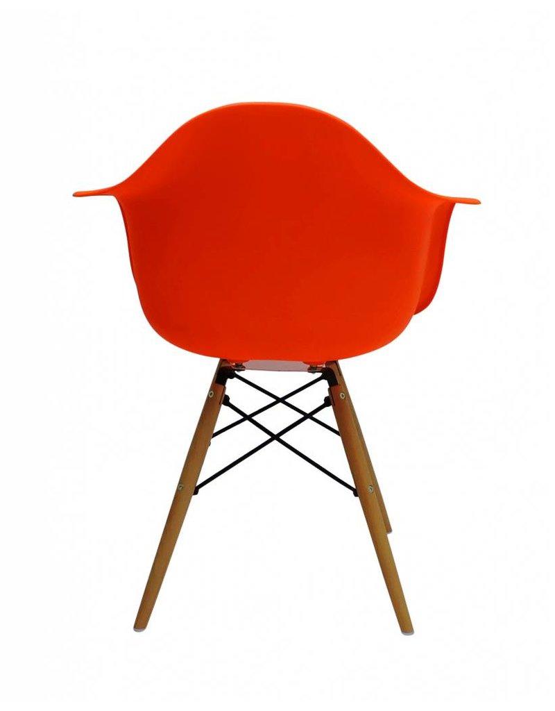 Oranje Design Fauteuil.Daw Eames Design Stoel Oranje