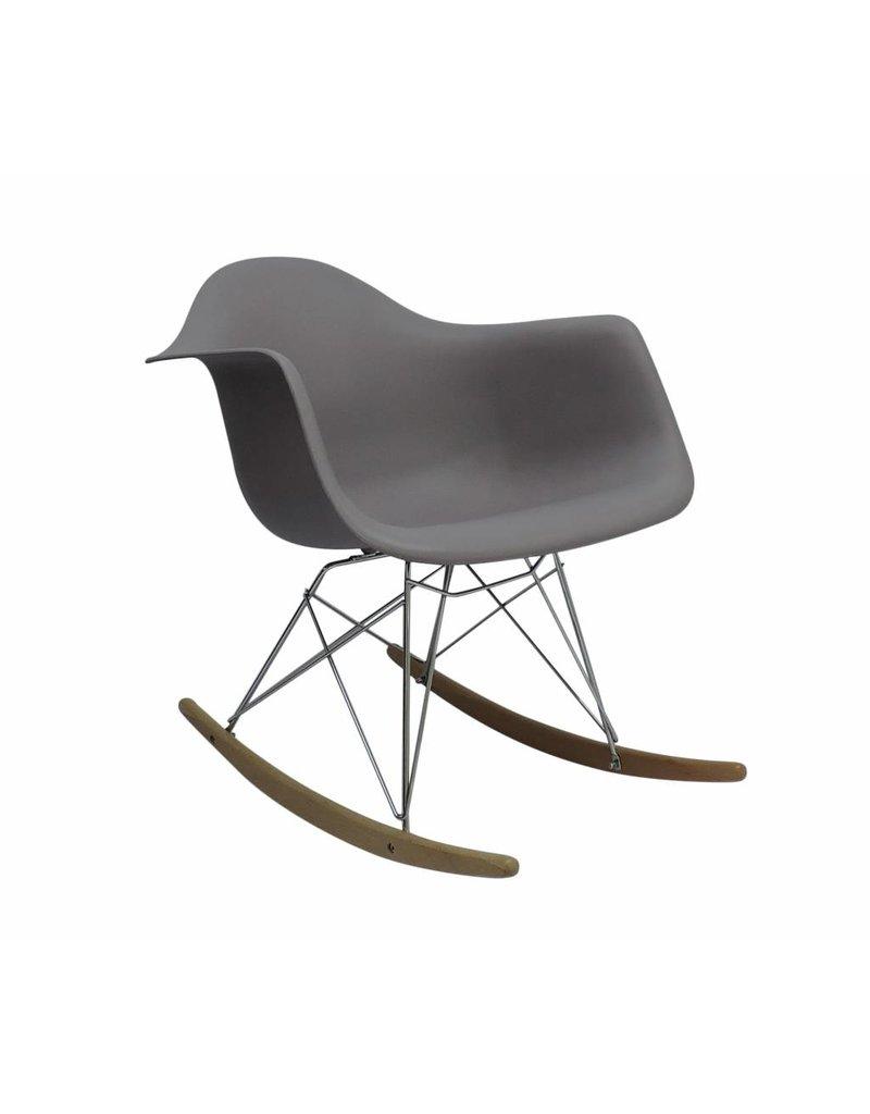 RAR Eames Design Schommelstoel Grijs