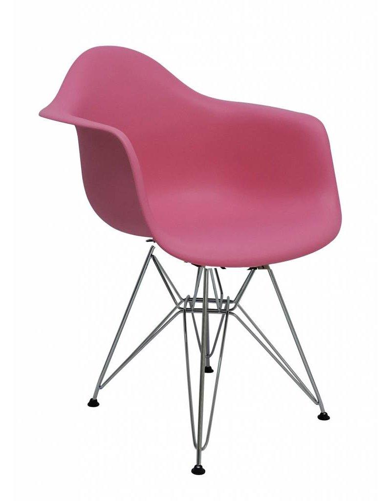 Aanbieding Eetkamerstoelen Design.Dar Eames Design Stoel Roze