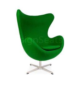 Egg chair Groen Cashmere