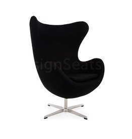 Egg chair Zwart Cashmere