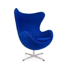 Egg chair Blauw Cashmere