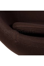 Egg chair Brown Cashmere