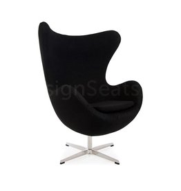 Egg chair Black Wool
