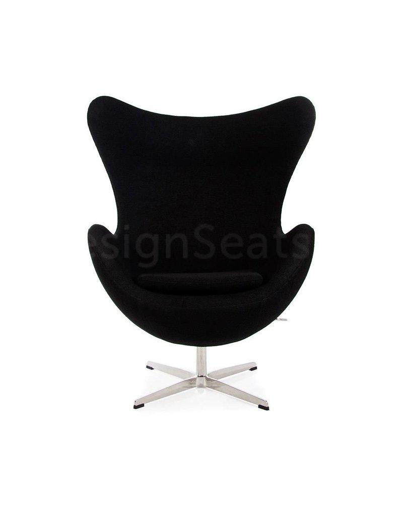 Egg chair Black Wool