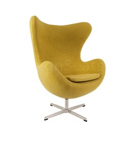 Egg chair Mustard Wool