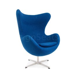 Egg chair Blue Wool