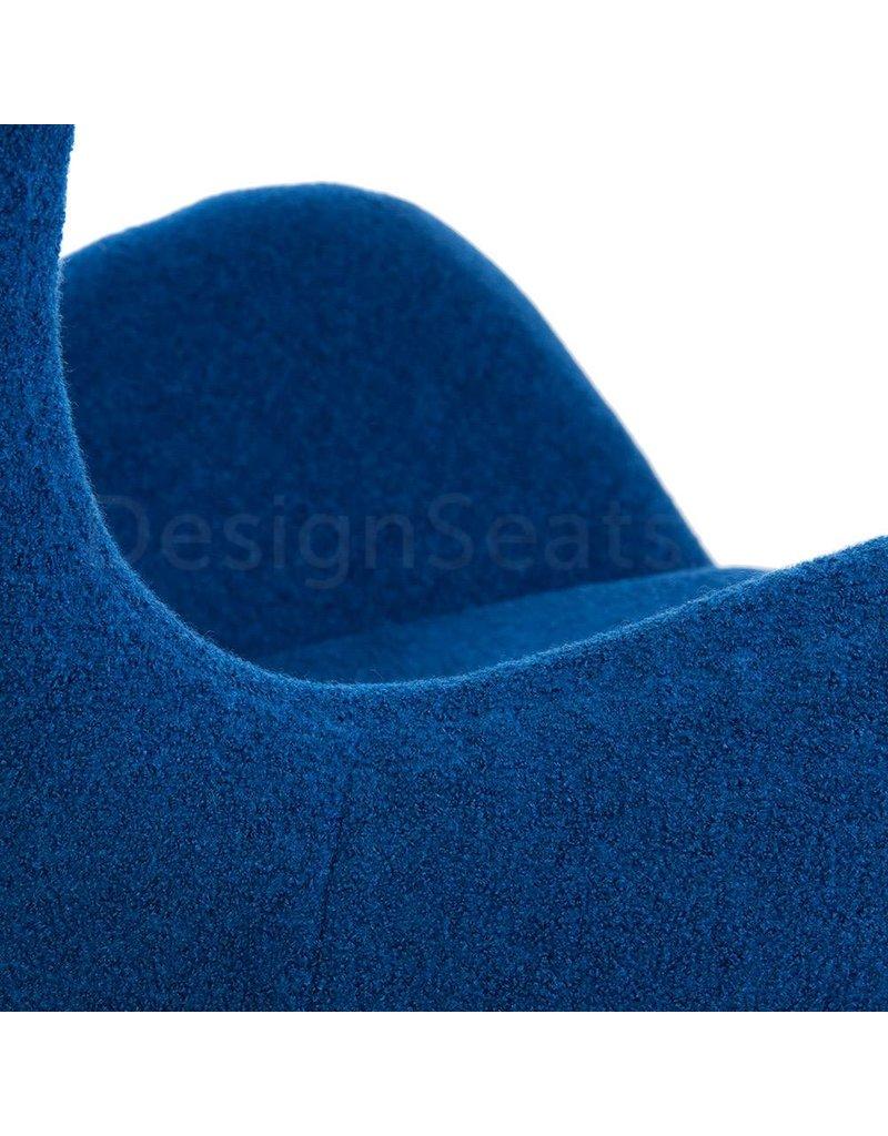Egg chair Blauw Wool