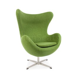 Egg chair Olijfgroen Wool