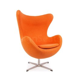 Egg chair Orange Wool