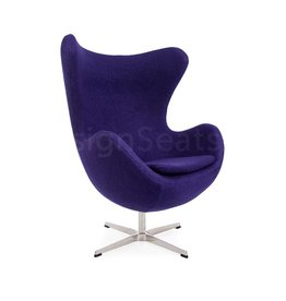 Egg chair Purple Wool