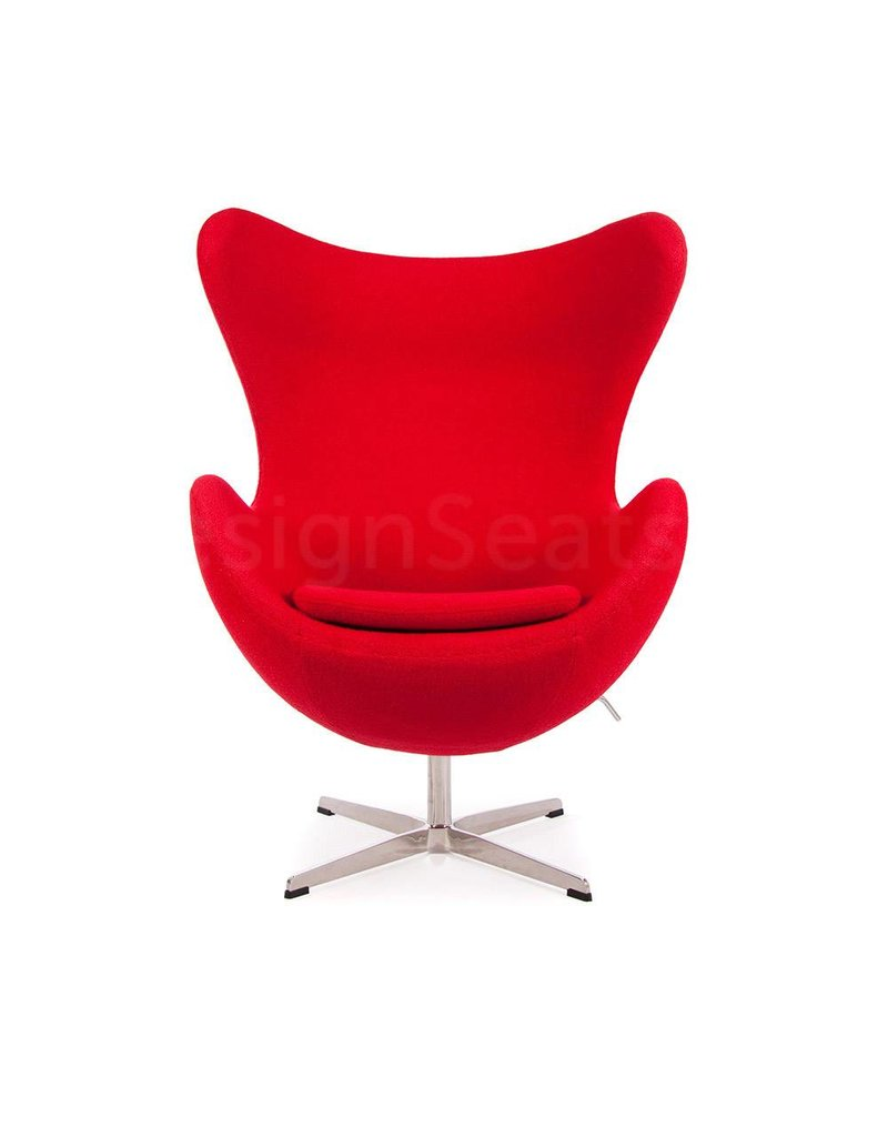 Egg chair Rood Wool