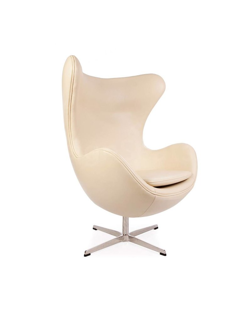 Egg chair Beige Leather