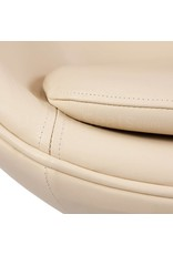 Egg chair Beige Leer