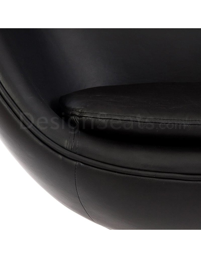 Egg chair Black Leather