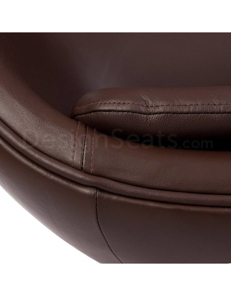 Egg chair Brown Leather