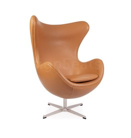 Egg chair Cognac Leer
