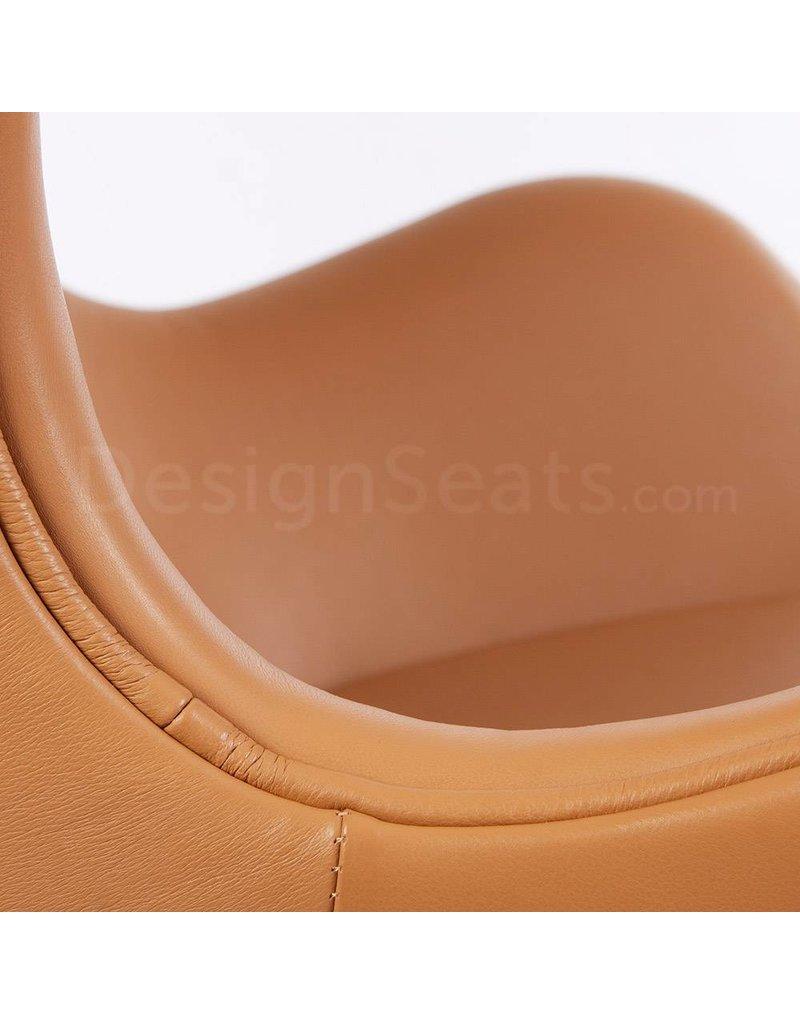 Egg chair Cognac Leer