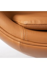 Egg chair Cognac Leather