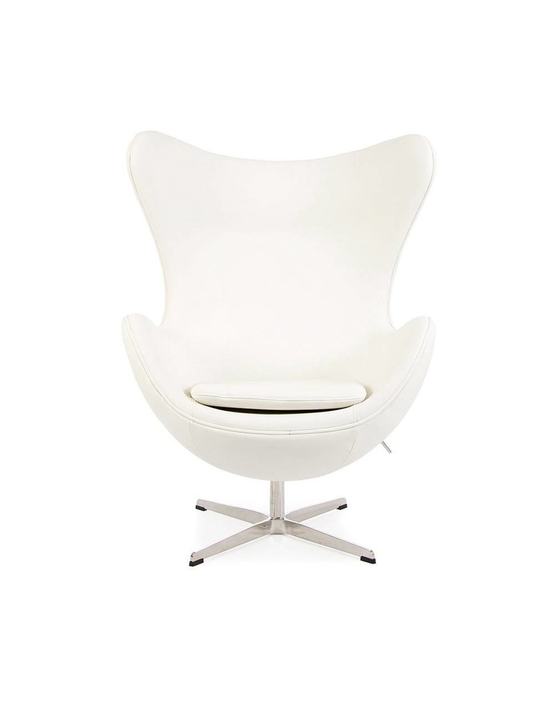 Egg chair White Leather