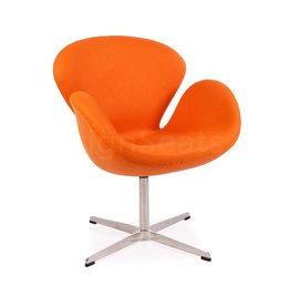 Swan chair Orange Cashmere