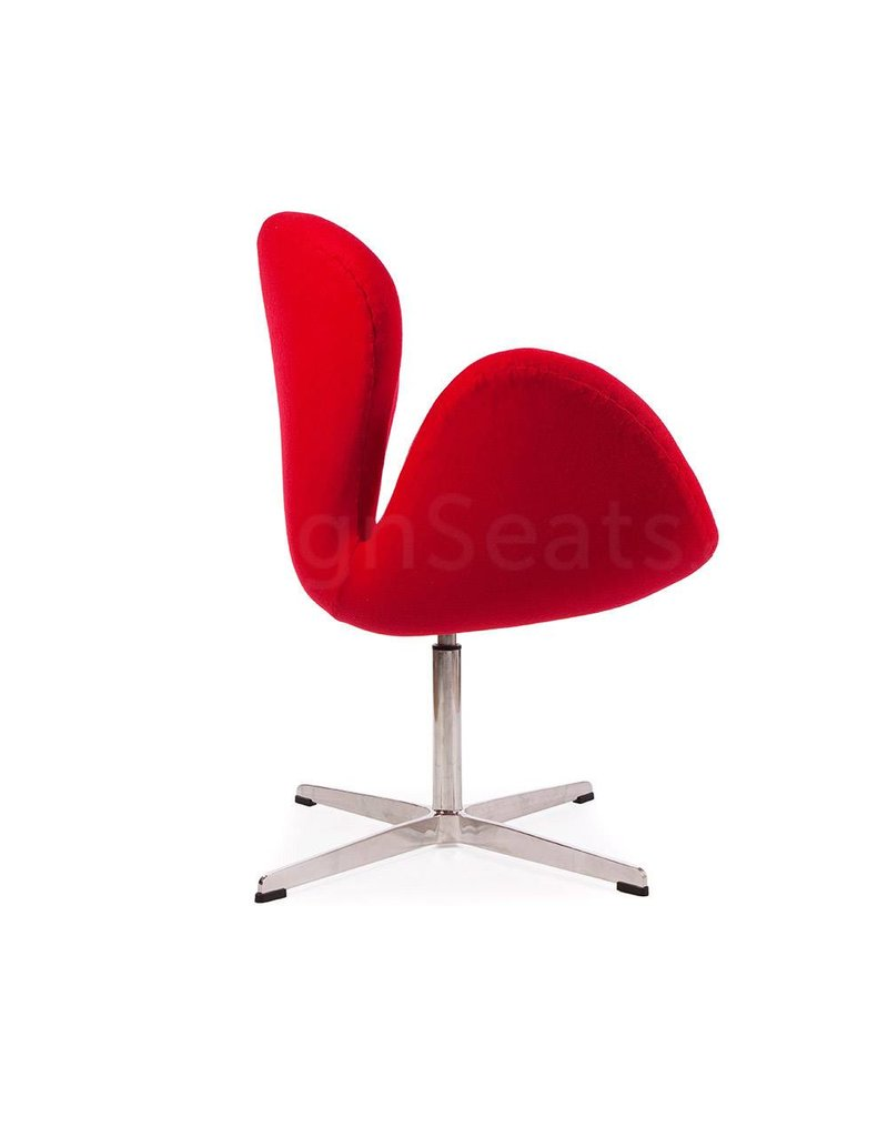 Swan chair Rood Cashmere