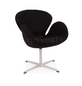 Swan chair Zwart Cashmere