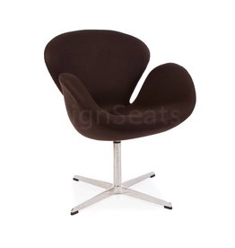 Swan chair Bruin Cashmere