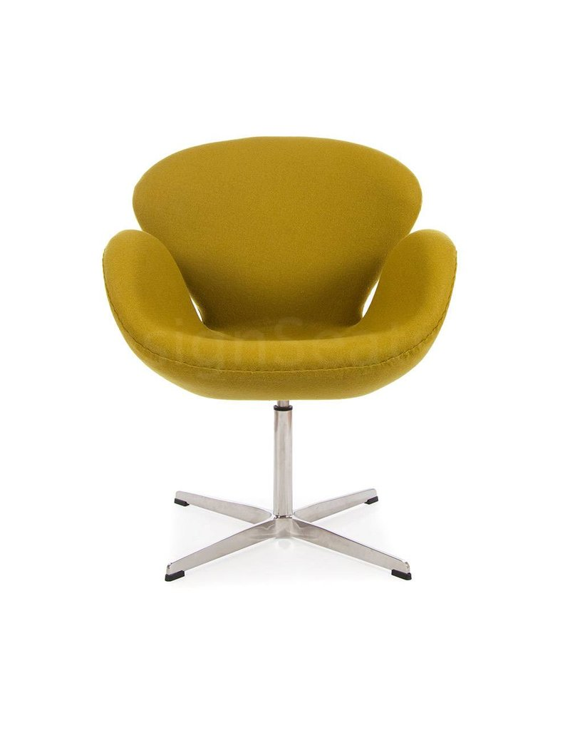 Swan chair Olive Cashmere