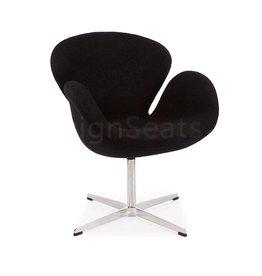 Swan chair Black Wool
