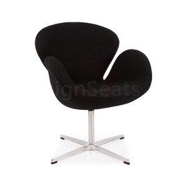 Swan chair Zwart Wool