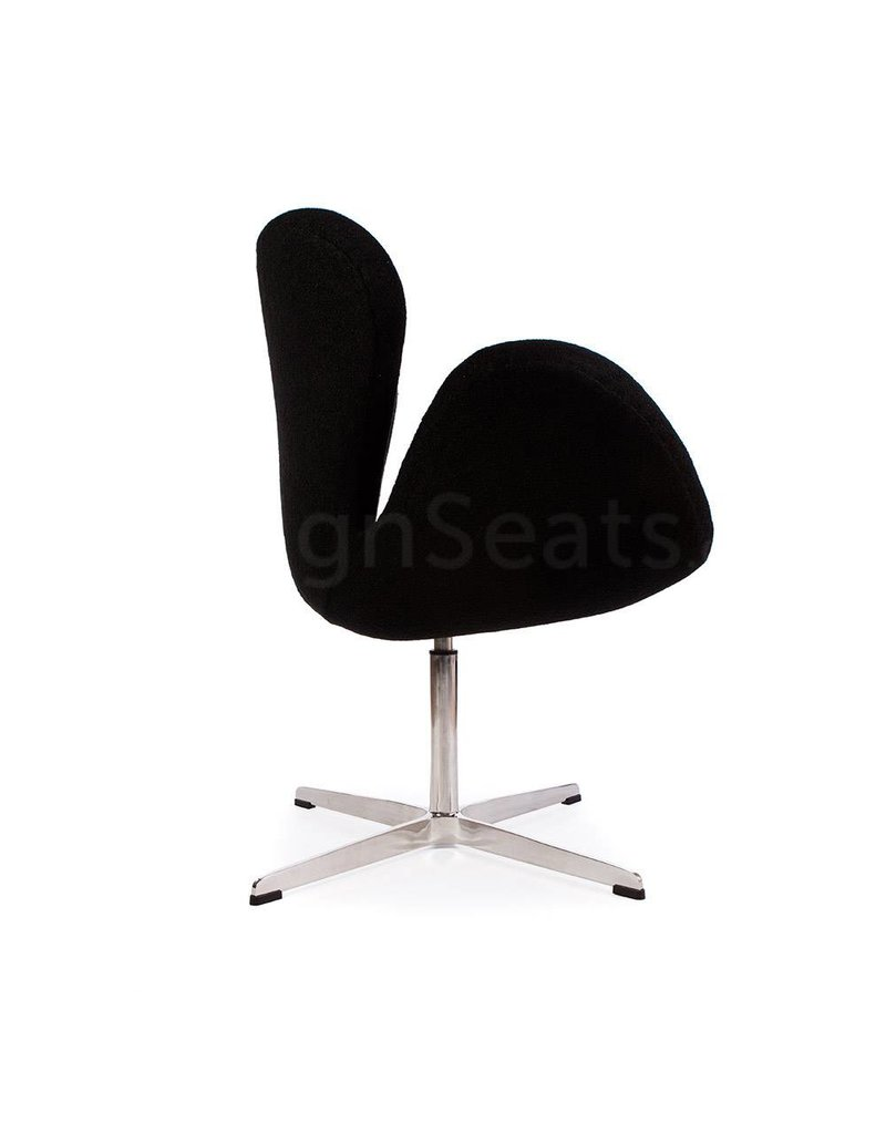 Swan chair Black Wool