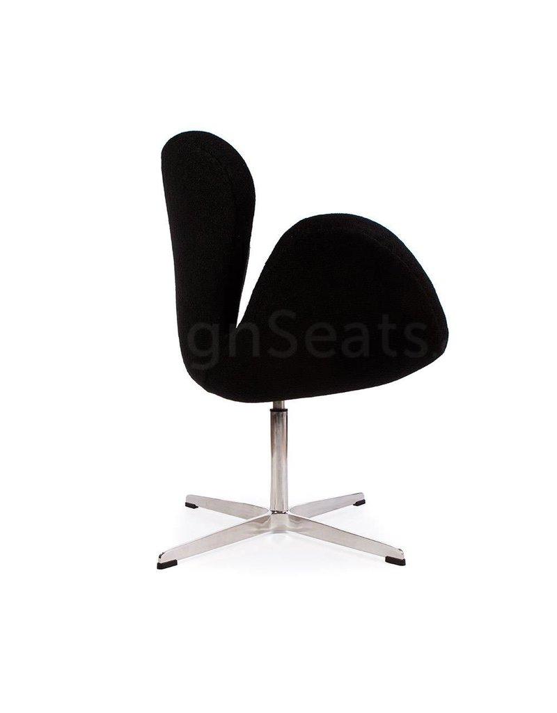 Swan chair Zwart Wool