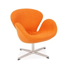 Swan chair Orange Wool