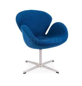 Swan chair Blauw Wool