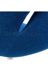 Swan chair Blue Wool